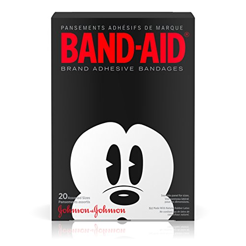 Band-Aid Decorative Adhesive Bandages, Disney's Mickey Mouse, Assorted, 20 Count (Mouse Mickey Featuring)