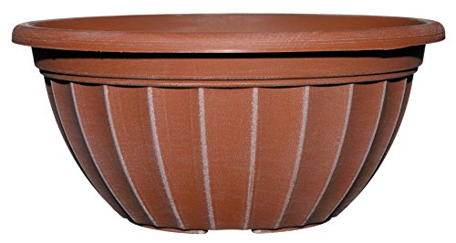 "Classic Home and Garden Haverhill Bowl 12"", Aged Terra Cotta"