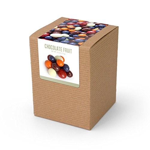 Chocolate Covered Dried Fruit, Brown Box 48ct/3.8oz by In-Room Plus, Inc.