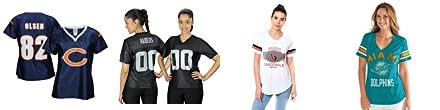 Amazon.com   Chicago Bears NFL Womens Team Fashion Dazzle Jersey ... d0de32918