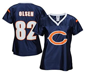 e58de9864 ... Chicago Bears NFL Womens GREG OLSEN 82 Fashion Dazzle Jersey