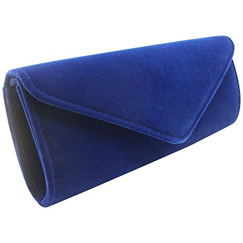 Sale Clutch Party Shoulder Hot Wedding Wocharm Velvet Handbags Royal for Blue Womens Purse EfZqwRq