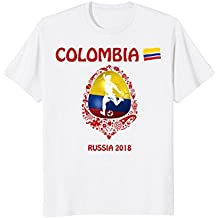 Colombia Soccer T Shirt Team Russia Football 2018 Fan