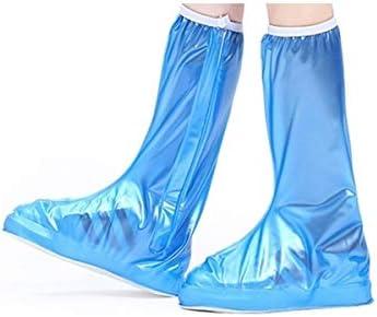 XHYRB 靴カバー、雨の日のために防水と非スリップレインブーツ、ピンク 防水靴、防雨カバー、長靴 (Color : Blue, Size : XXXL)