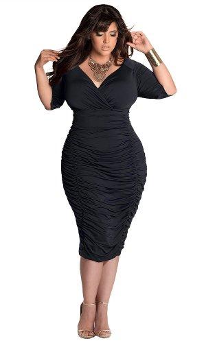 IGIGI Women's Plus Size Ambrosia Dress in Black 26/28