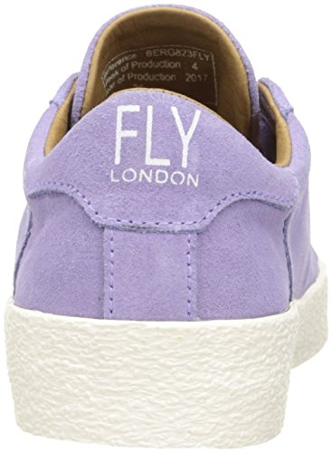 Pelle In Sneakers London Lilla Basse Scamosciata Berg823fly top Fly Low a6q00