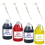 hawaii ice flavor - Shave Ice Four Gallons w/Pumps Pick Your Flavors