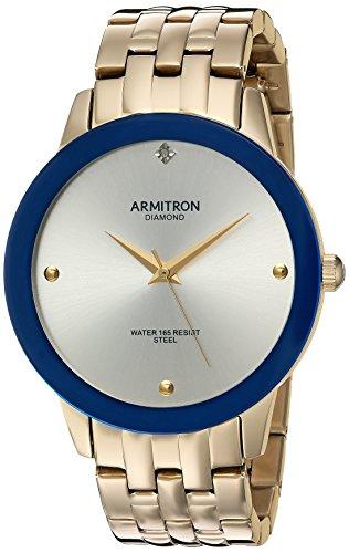 Armitron Men's 20/4952SVGP Diamond-Accented Gold-Tone Bracelet Watch
