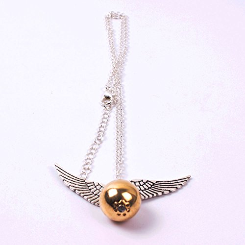 YGDZ Top Quality Harry Potter Golden Snitch Quicksilver Golden Pearl NecklaceShipping by FBA (Harry Potter Snitch)