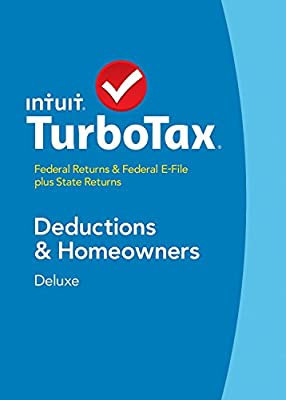Turbotax Deluxe 2014 Fed + State + Fed Efile Tax Software