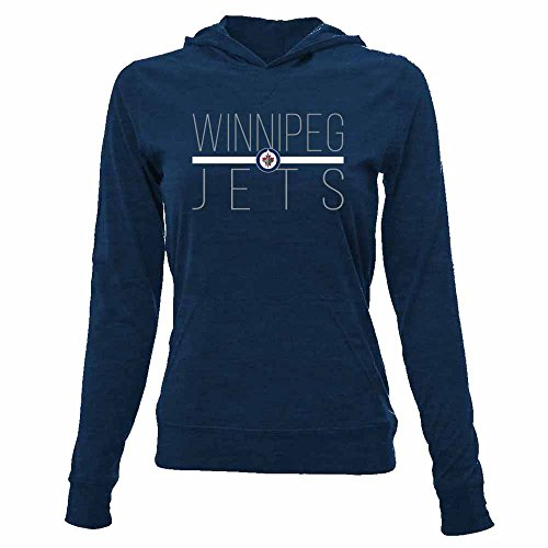 NHL Winnipeg Jets Women's Recovery Line Em Up Pullover Hooded Mid-Layer Apparel, X-Large, Solid Navy