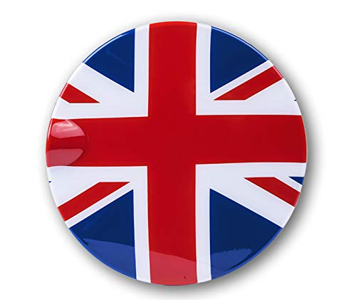 HDX Red/Blue Union Jack UK Flag ABS Sticker Cover Trim Cap for Mini Cooper ONE S JCW F Series F55 Hardtop F56 Hatchback F57 Covertible 2016+ (Gas Tank Door Fuel Cap Type A)