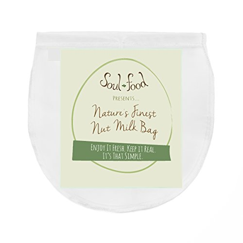 Best Reusable Nut Milk Bag - Almond Milk Bag - Sieve Fine Mesh - Cheesecloth Filter & Yogurt Strainer - Sprouting Bag - Storage Bag - Coffee, Rice Milk, Juice - 12X12 U Shape - Free Recipes.