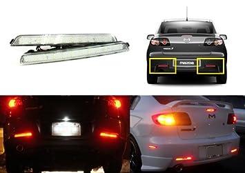 2003 2/x rot Objektiv Bumper Reflektor LED Schwanz Bremslicht 09/Mazda3/BK Axela Sport