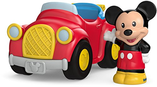 Little Red People Car - Fisher-Price Little People Magic of Disney Waving Mickey Vehicle