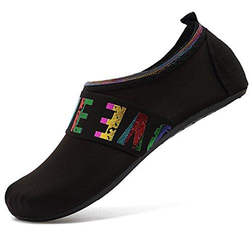 Pieds Rapide de Yoga Aqua Slip Nus pour Chaussettes Noir on Séchage VIFUUR Chaussures Love à Nautique Enfants Femmes Sport Hommes qxIwB5nRg8