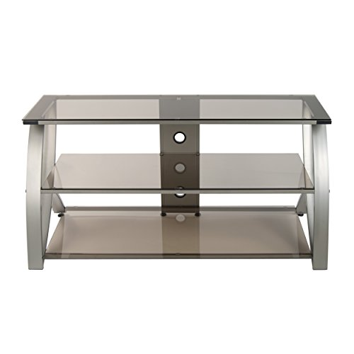 (Calico Designs 60620 Futura Advanced TV Stand, 48-Inch Width by 19-Inch Depth by 23.5-Inch Height, Champagne with Bronze Glass)
