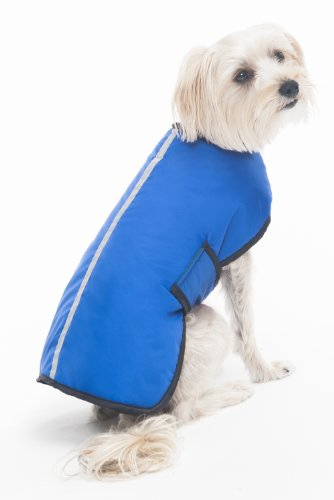 Fashion Pet Essential Waterproof Coat for Pets, Medium, Blue