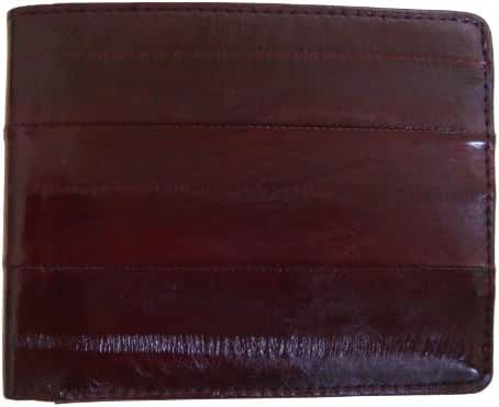 Rainbow Men's Genuine Eel Skin Leather Credit Card Bifold Wallet