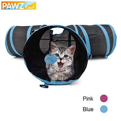 Cat Tunnel Foldable Special Design Y Shape 3 Holes Pet Play Toy for Kitten Puppy Rabbit High Quality with Ball 2 colors Pet Toy