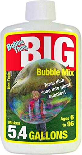 (BUBBLE THING Big Bubble Mix | Best Bubble Solution for All Giant Bubble Wands, Makers, Toys | Makes 5.4 Gallons | Huge Fun, Easy, Safe | Buy BUBBLE THING Giant Bubble Wands Too, Bubble Biggest by Far)