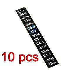 10Pcs Aquarium Fish Tank Temperature Thermometer Sticker