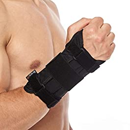 BraceUP Deluxe Wrist Stabilizer Support Brace with Aluminum Splint for Carpal Tunnel Arthritis