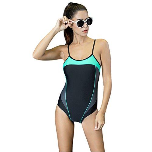 Mufly Badeanzug für Damen einteiliger Schwimmanzug One Piece Bikini