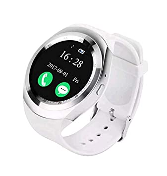 98532bc45a3 Relógio Smartwatch Y1 Original Celular Inteligente Touch Bluetooth Chip  Ligações Pedômetro Câmera (BRANCO)