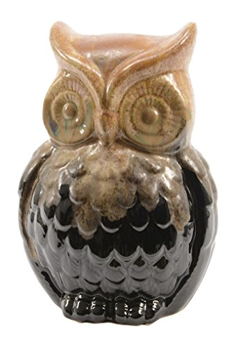 Kaemingk Luxury Lodge Porcelain Owl Decorative Christmas Table Top Decoration, 6'' by Kaemingk
