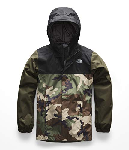 The North Face Boys Resolve Rectie Jacket - Terrarium Green Woodland Camo Print & TNF Black - L by The North Face