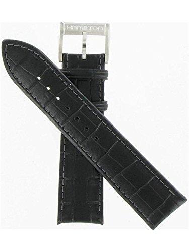 Hamilton 22/20mm Genuine Black Leather Strap