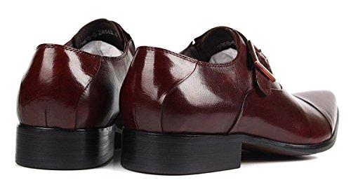 Jsix Hombre De Hebilla Formales Zapatos De Vestir De Piel ocasiones formales o informales,caballero - Traje/ Fiesta/ Boda Marrón