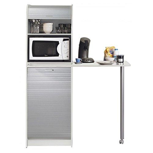 SIMMOB SNACK269BLA - Mesa de Cocina giratoria con Mueble de ...