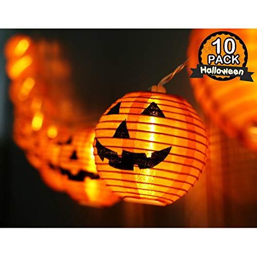 WmBetter Pumpkin String Lights Detachable Polyester