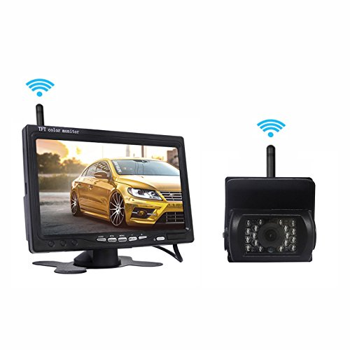 Find Discount Backup Camera and Monitor Kit, Car Bus LCD Monitor 7 Inch and Wireless Waterproof Rear...