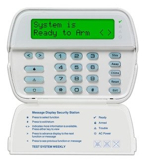 TYCO SAFETY PRODUCTS DSC RFK5500ENG 64 zone full message LCD keypad by Tyco
