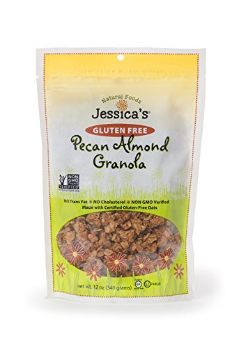 Jessica's Natural Foods Gluten Free Pecan Almond Granola 12 oz. - All Natural Granola Non GMO Breakfast Cereal and Snack, Certified Gluten Free - Pecan Almond