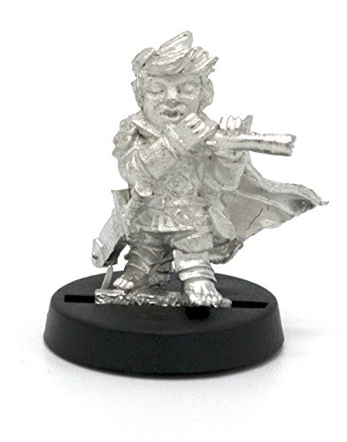 Stonehaven Halfling Fife Player Miniature Figure (for 28mm Scale Table Top War Games) - Made in USA - Pewter Flute