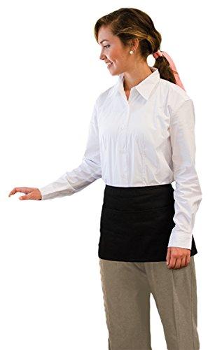 Adams Twill Waist Easy Care 3-Pocket Apron, One Size, White
