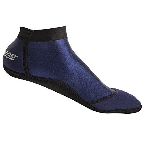 Seavenger SeaSnug Low Cut Socks for Beach Volleyball, Protect Against Sand & Sunburn for Water Sports & Beach Activities (Dark Blue, - High Wetsuit Cut