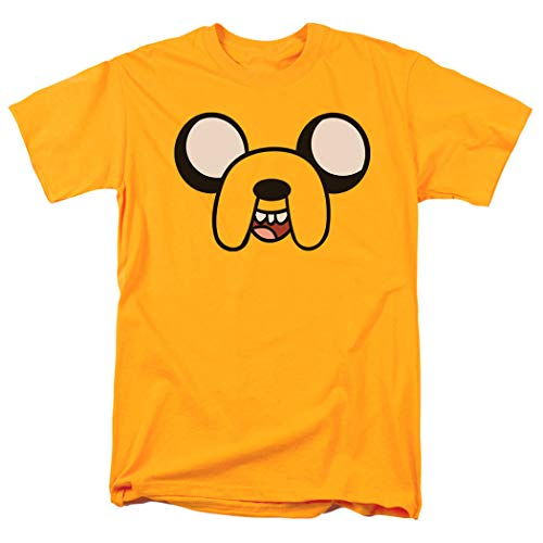 Adventure Time Jake The Dog Cartoon Network T Shirt (Medium) Yellow ()