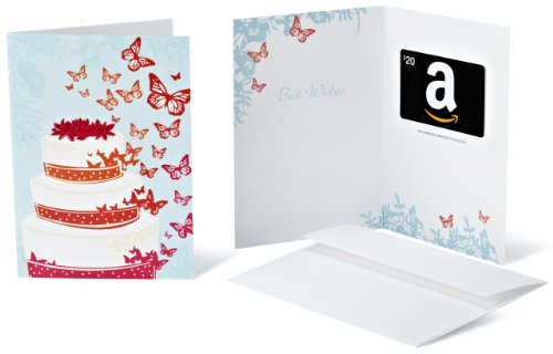Amazon.com $20 Gift Card in a Greeting Card (Wedding Design)
