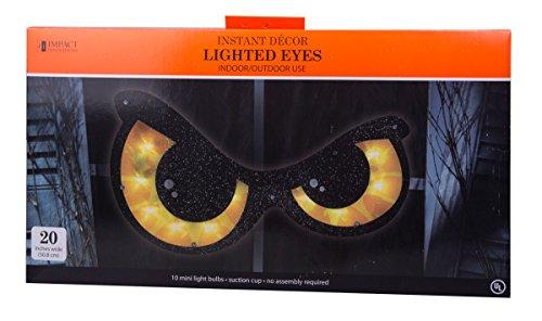 - Halloween Lighted Eyes Window Decoration