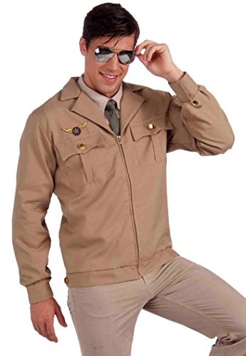 Forum Novelties Men's Fighter Pilot Costume Jacket, Brown, - Cruise Costume Tom