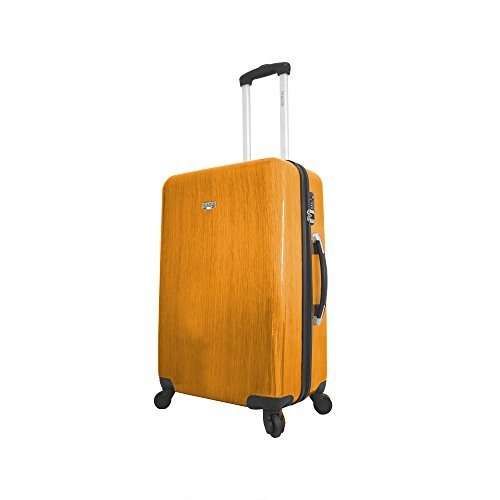 Viaggi Murano Hardside 24 Inch Spinner, Orange, One Size (Murano Suitcase)