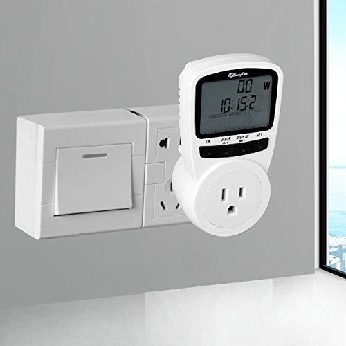 Outlet Wattage Meter : Power meter bonytek lcd plug in voltage amps