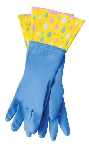 丸和貿易 ゴム手袋 キッチングローブ ブルードロップの商品画像
