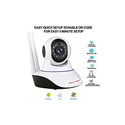 Heirloom Quality 1080P Hd Wireless Security Camera (Cctv 1920Tvl/Ip Camera 2Mp) Wifi Home Security Camera System With Ios/Android App Night Vision, Pan, Tilt, Zoom, 2-Way Audio, Motion Alerts(White)