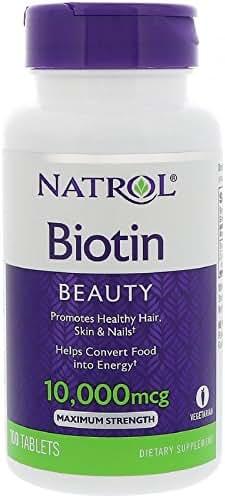 Natrol Biotin 10000 mcg, 100 Count